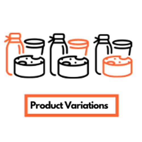 製品バリエーションの作成(可能な場合)
