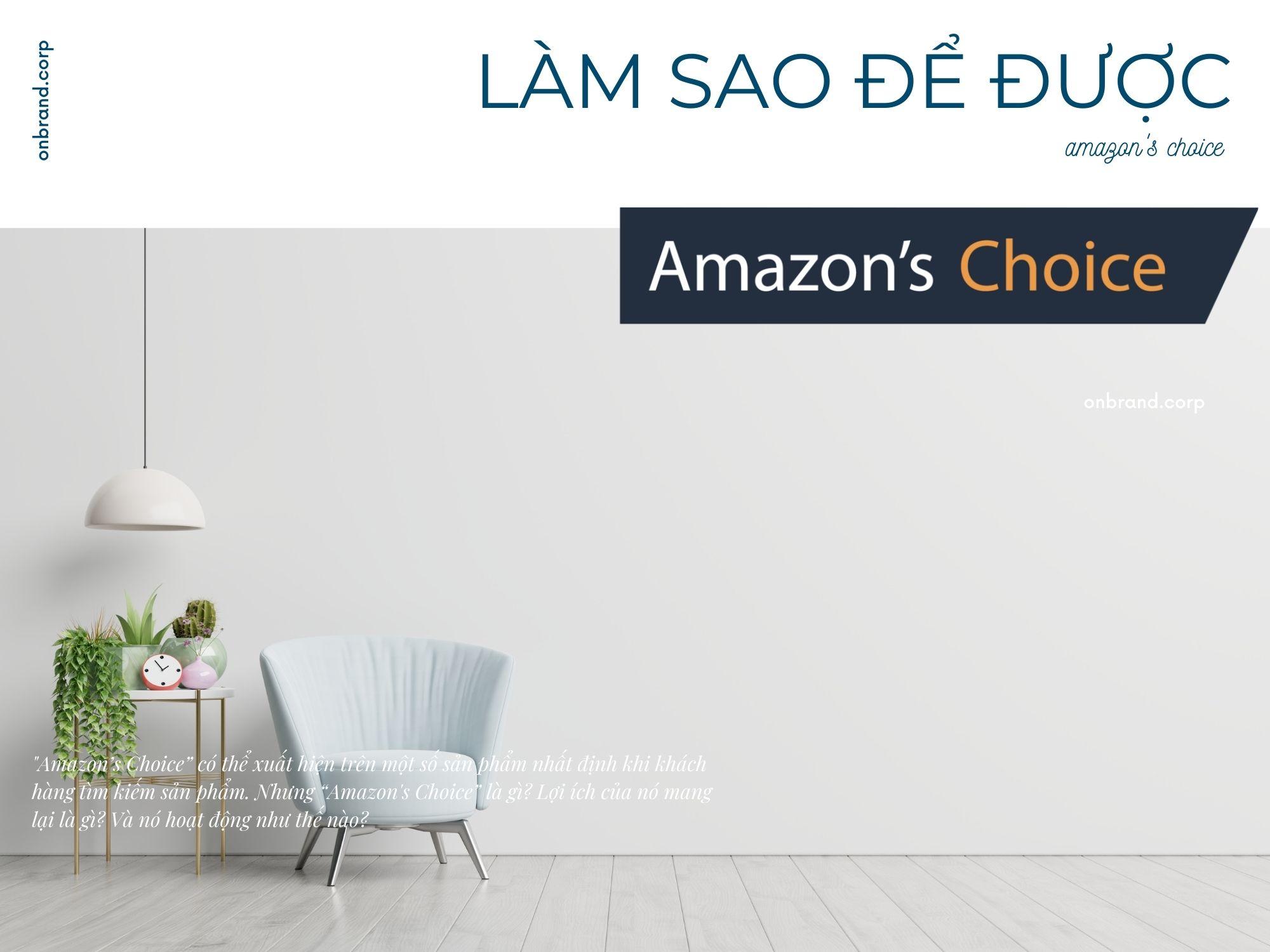 Amazon's Choice là gì? Cách có biểu tượng Amazon's Choice nhanh nhất